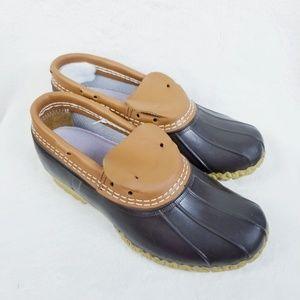 L.L. Bean Women's Duck Boots Rubber Moc Size 8W